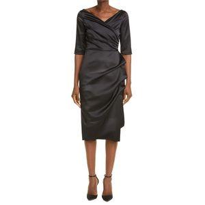 NWT Chiara Boni Florian Black Satin Dress Sold Out